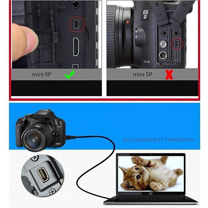UC-E6 - Cable de Datos USB para cámara Digital Nikon UC-E16 UC-E17 ...