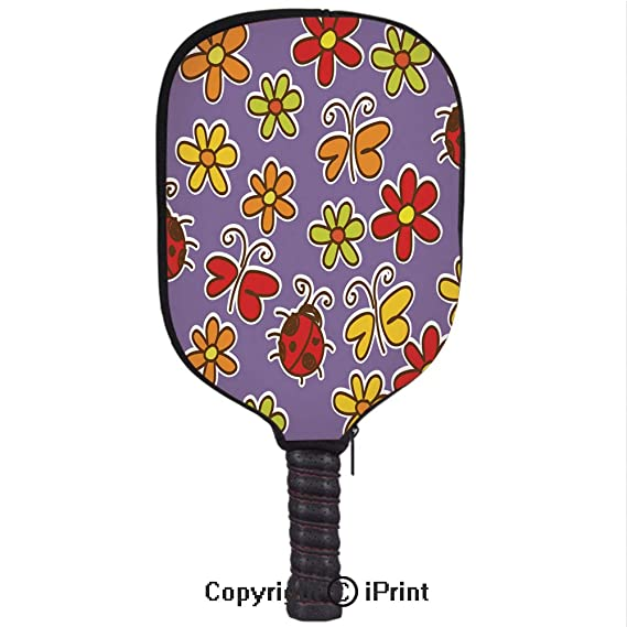Amazon.com : 3D Pickleball Paddle Racket Cover Case with Diving Material, Cute flowers2(Size:8.23