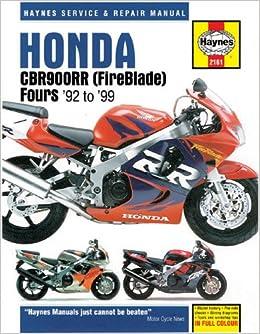 Honda CBR900RR Service and Repair Manual (Haynes Manuals): Haynes, John:  9781859607091: Amazon.com: BooksAmazon.com