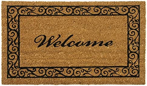 Rubber-Cal Estate Style Welcome Doormat Coco Coir Mats, 24 x 57-Inch