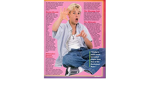 Amazon.com : Aaron Carter - blue & white shirt - 11