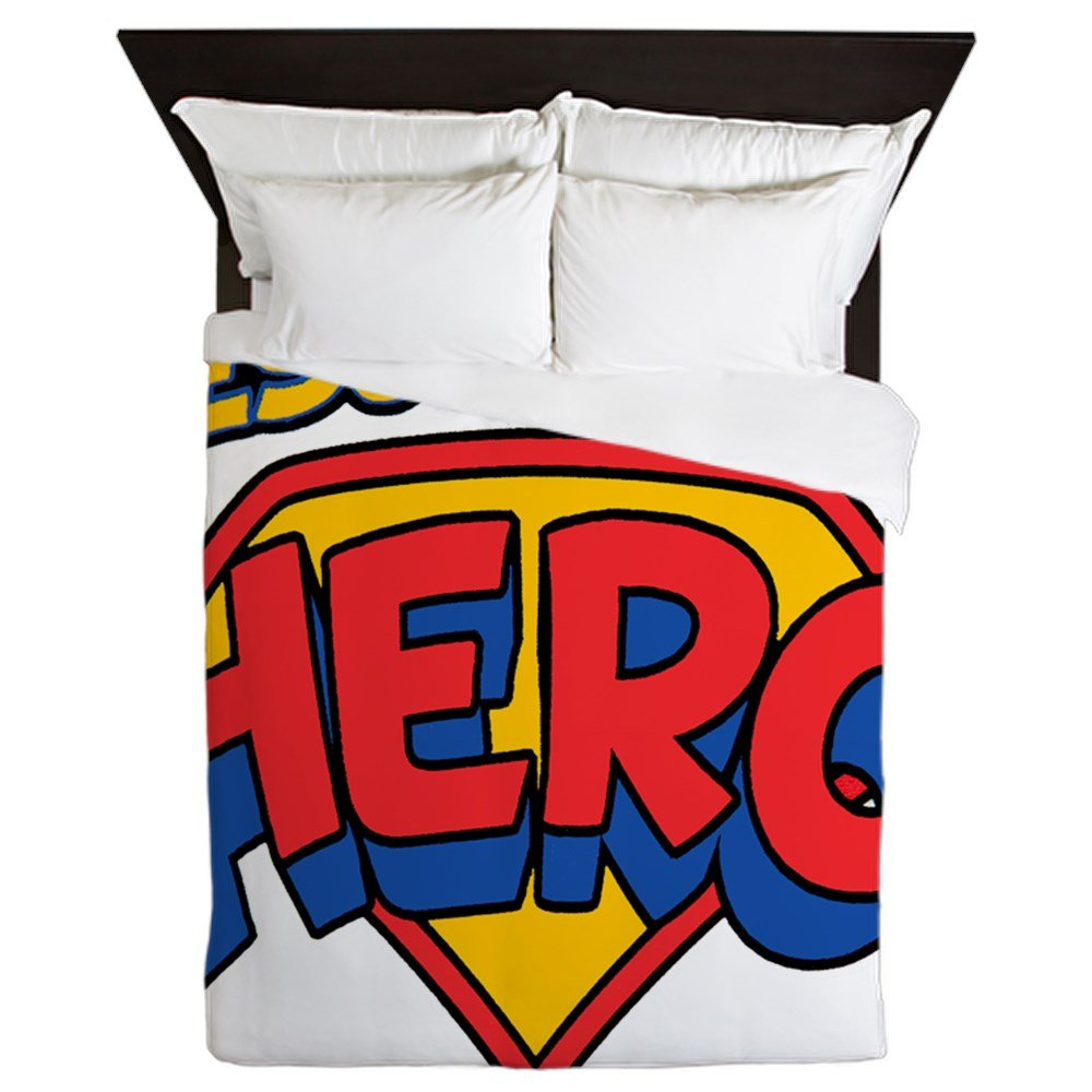 Queen Duvet Cover Jesus Is My Hero by Royal Lion