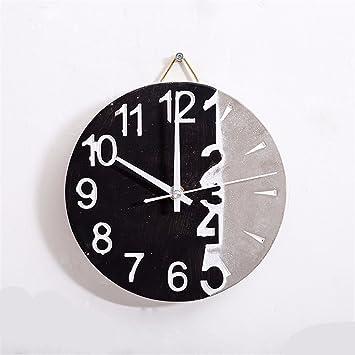 WERLM Casa de diseño personalizado de arte decorativo reloj de pared Reloj de pared Reloj de ...