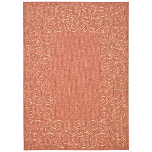 Safavieh Courtyard Collection CY5139A Terracotta and Beige Indoor/ Outdoor Area Rug (2'7