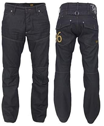 a31ad5f1583 G-Star Raw Mens 5620 Elwood Heritage Embro Tapered Crushed Black Jeans W28  L34: Amazon.co.uk: Clothing