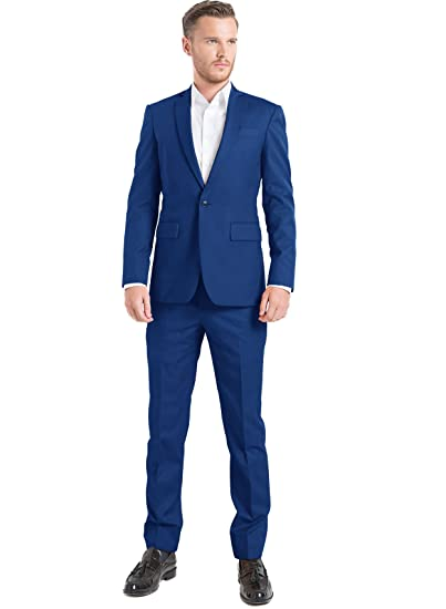 iTailor Men's Cotton Chino Single-Button Suit at Amazon