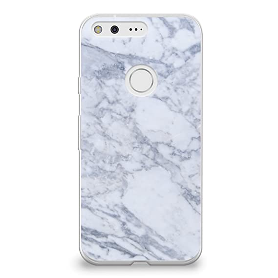 timeless design d992d b523a CasesByLorraine Google Pixel Case, Gray Marble Print Case Flexible TPU Soft  Gel Protective Cover for Google Pixel (X03)