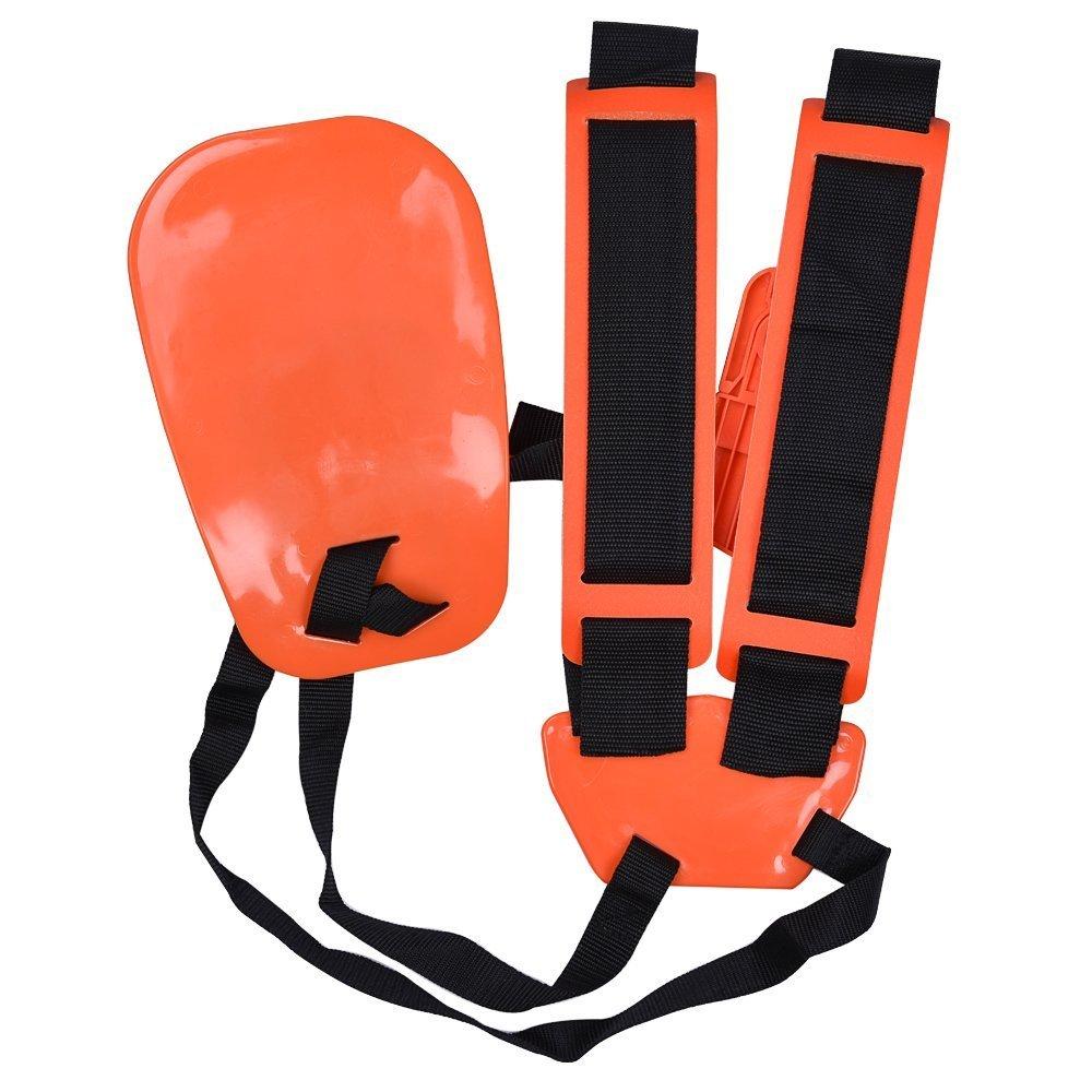 KISSTAKER Trimmer Shoulder Strap, Trimmer Harness Strap Double Shoulder Mower Nylon Belt with Easily Adjustable for Brush Cutter Garden Lawn by KISSTAKER