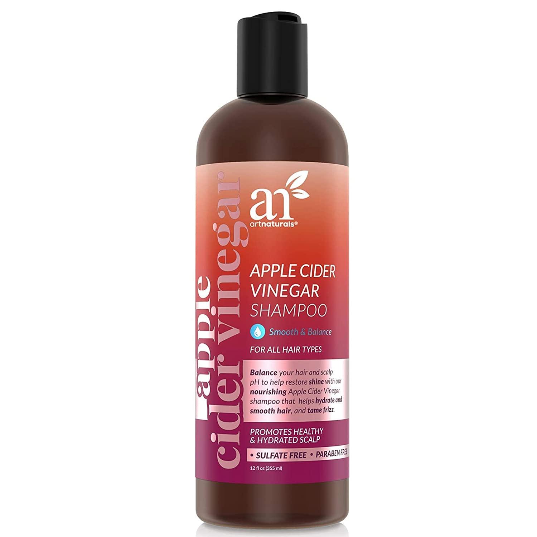 ArtNaturals Apple Cider Vinegar Shampoo – (12 Fl Oz / 355ml) – for All Hair Types - Plant Base Blend - Coconut Oil and Vitamin E for Split Ends, Shine, Stronger and Smoother