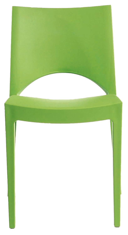 GRAND SOLEIL Grandsoleil, Upon Paris - Sedia impilabile, in polipropilene, 51 cmx 49 cmx 80cm, colore: verde mela Grandsoleil_S6314VM