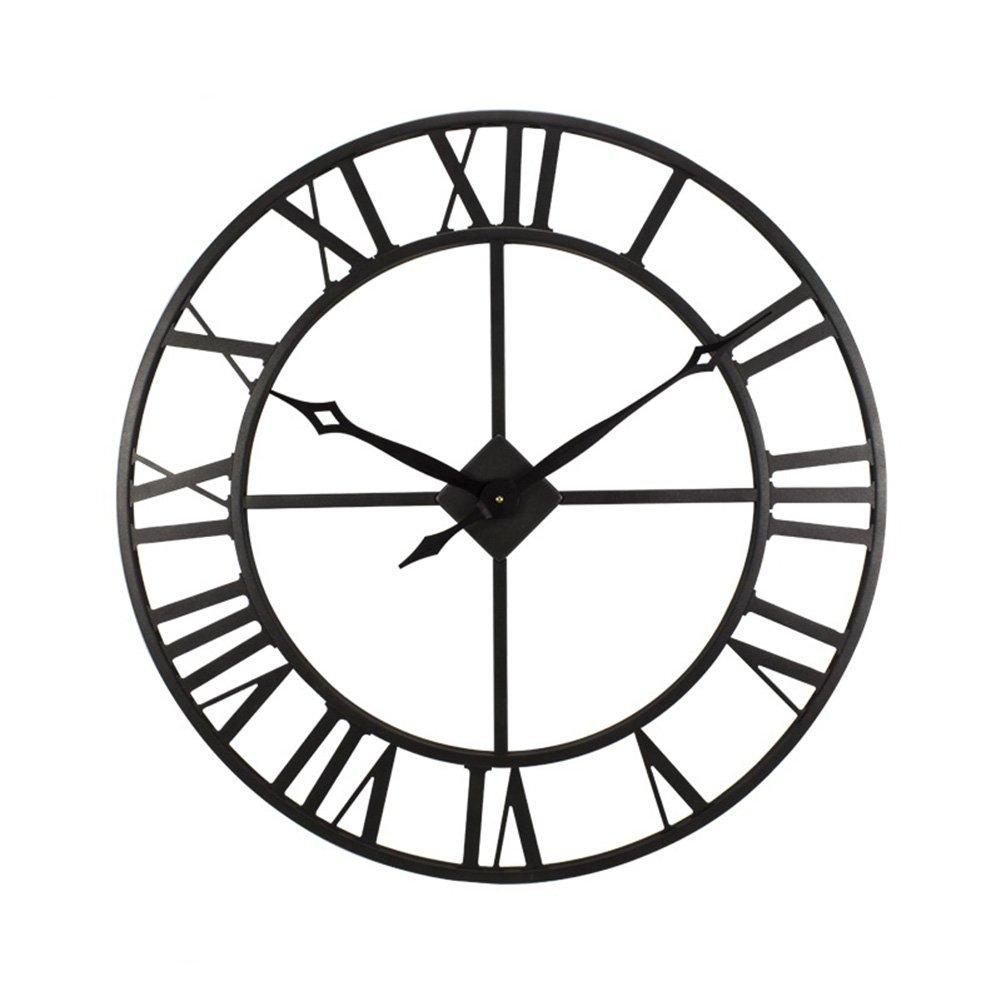 ZWD アイアンアートの壁時計、レストランの壁時計のキッチンの壁時計の寝室のリビングルームコーヒーショップ花屋の壁時計の直径35.5-76.2CM 飾る (色 : A-76.2 * 76.2CM) B07FNCZRL2 A-76.2*76.2CM A-76.2*76.2CM