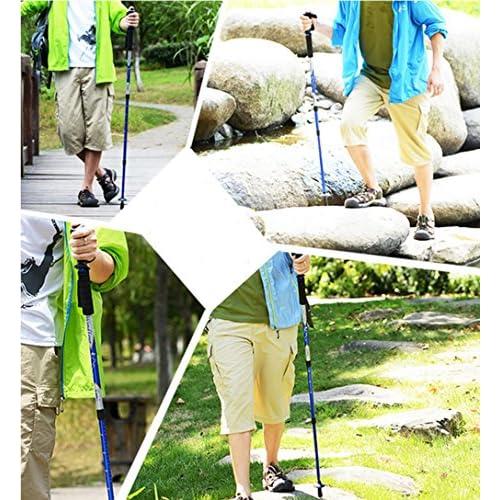 Bâtons d'escalade les plus courts rétractables 50cm faciles à transporter bâtons de marche randonnée pédestre matériel de plein air béquilles bâtons de marche