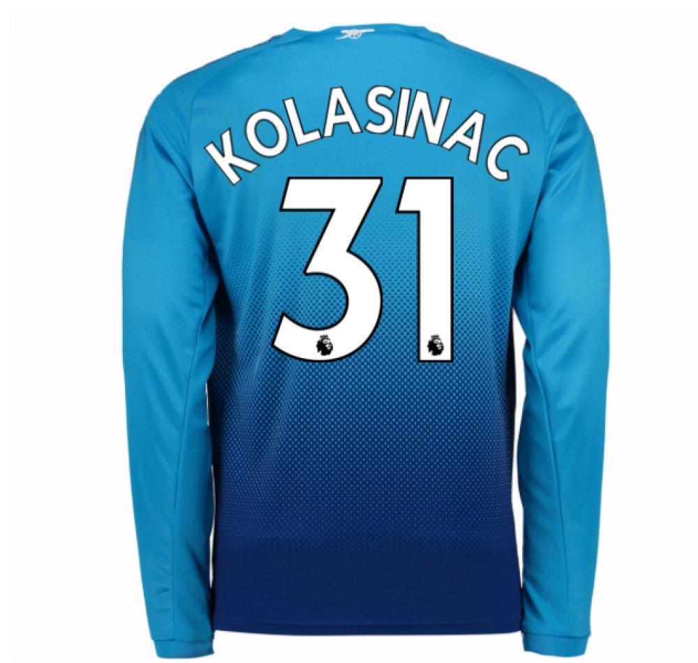 2017-2018 Arsenal Away Long Sleeve Football Soccer T-Shirt Trikot (Sead Kolasinac 31) - Kids