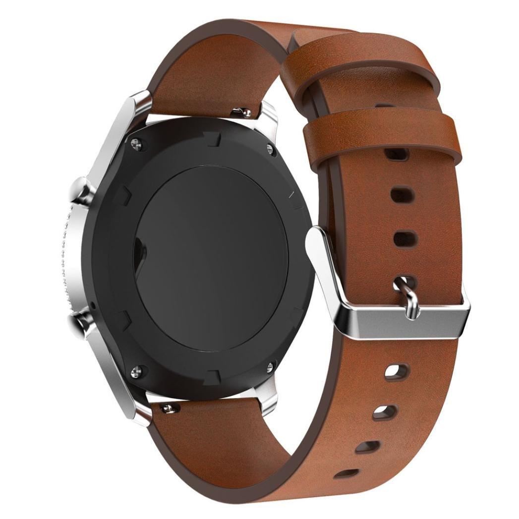 ブレスレットストラップバンドKanhan交換用レザー腕時計Samsung Gear s3 Frontier ブラウン ブラウン B078LWSRNH