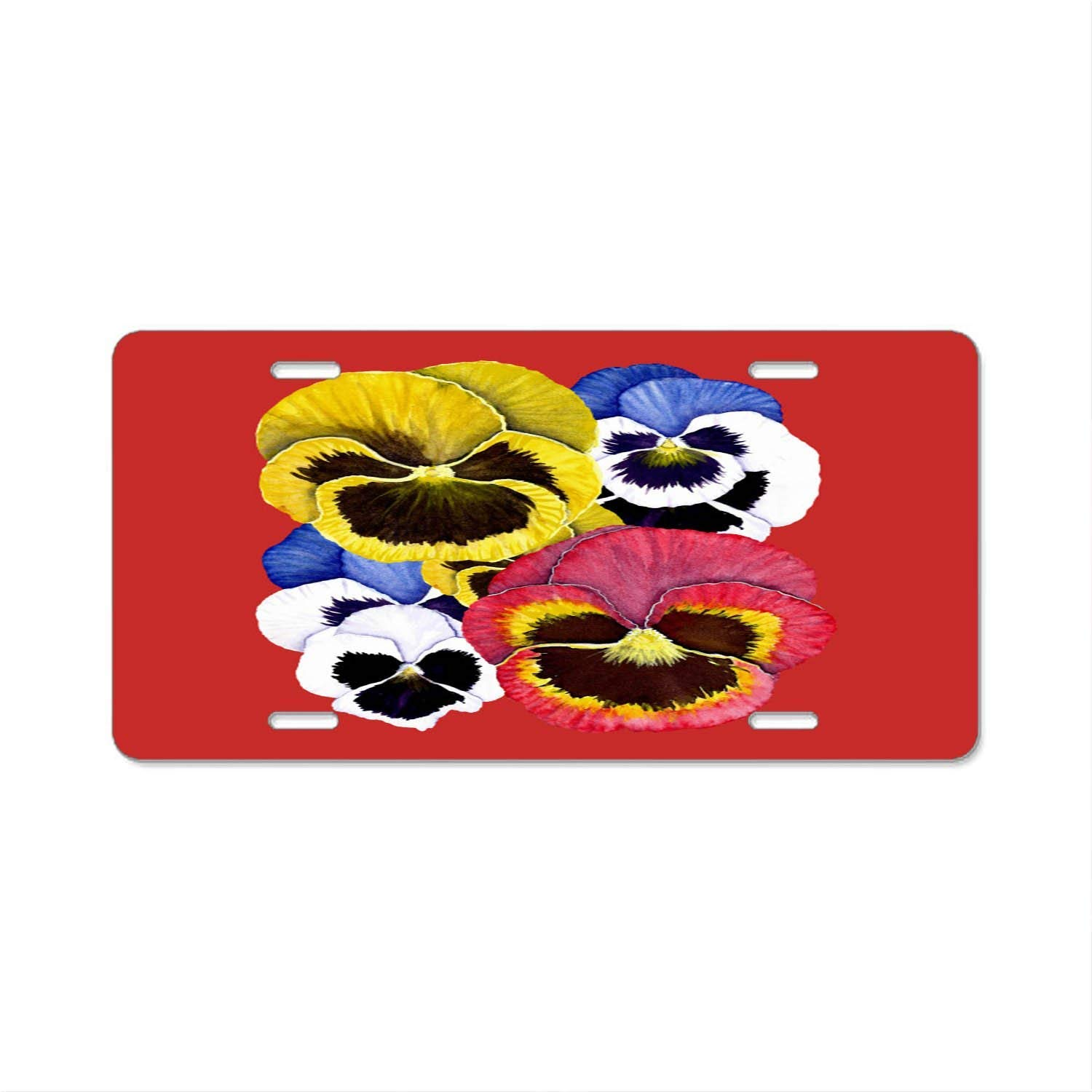 Red Rose Personalized Novelty Front License Plate Custom Decorative Car Tag