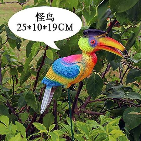 KOONNG Decoración del jardín Jardín de la Boda Accesorios de decoración de la Ventana del césped Mostrar Animales Artificiales Decoraciones de flamencos, pájaros extraños: Amazon.es: Hogar
