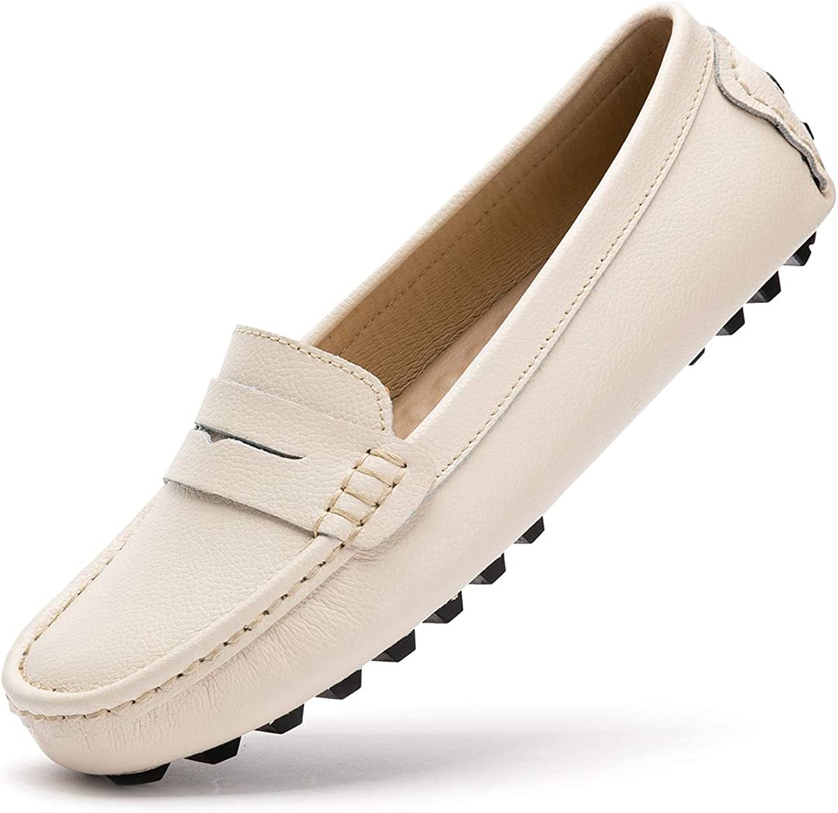 Amazon.com   Artisure Women's Classic Genuine Leather Penny Loafers Driving  Moccasins Casual Slip On Boat Shoes Fashion Comfort Flats   Loafers & Slip- Ons