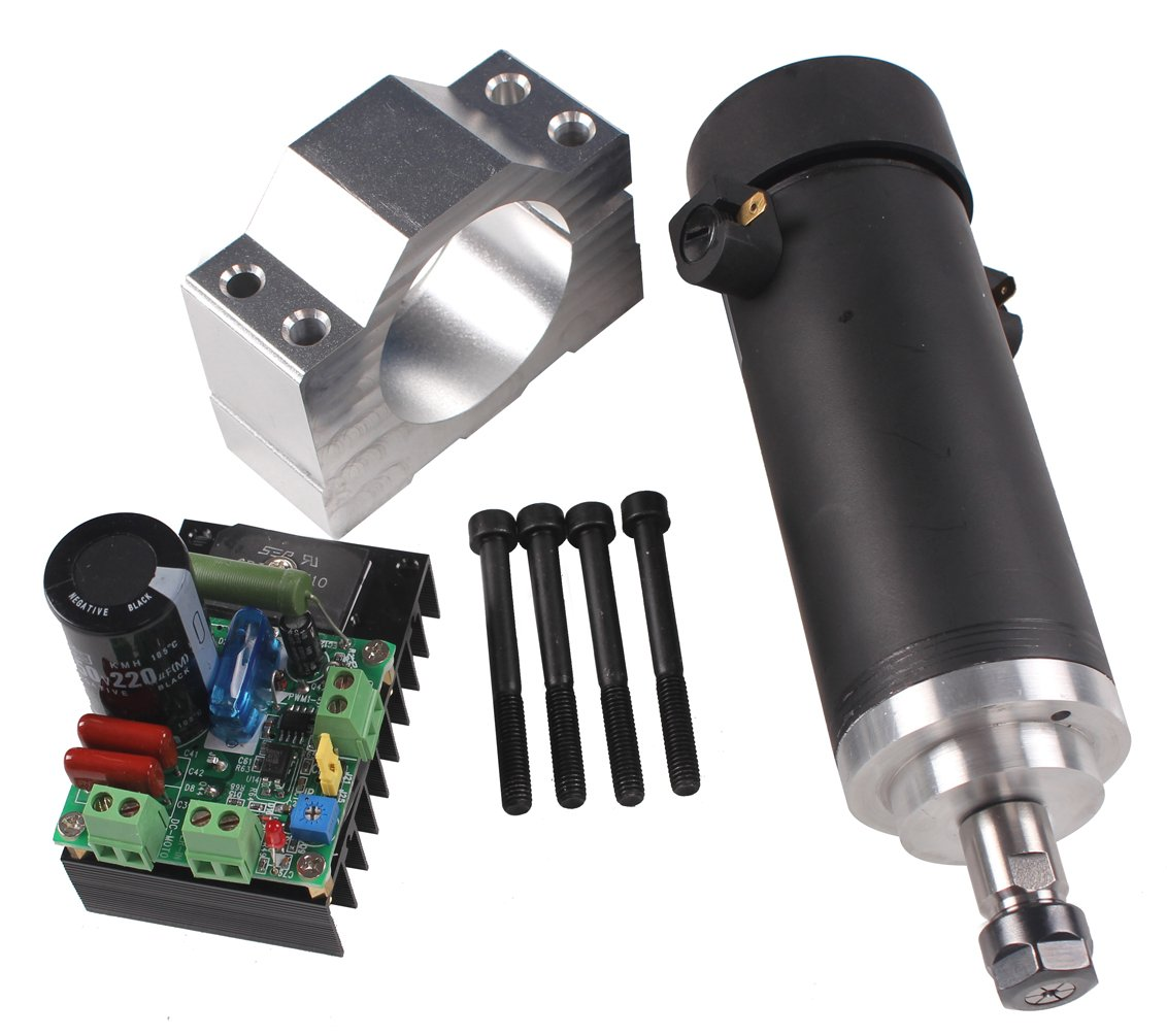 Sunwin 450W 3000-12000rpm CNC Spindle Motor Kits PWM Speed Controller Mount Bracket