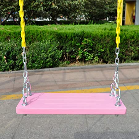 F-JX Jardín árbol Asiento del Columpio con Cadenas de Acero para niños y Adultos al Aire Libre y reproducción de Cubierta,Rosado: Amazon.es: Hogar