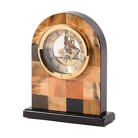 A-ZHP Relojes de Escritorio Reloj de sobremesa colocado Mudo Europeo Reloj de decoración del