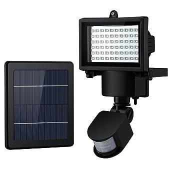60 Led Lampe Solaire Avec Detecteur De Mouvement Intelligent Lumiere