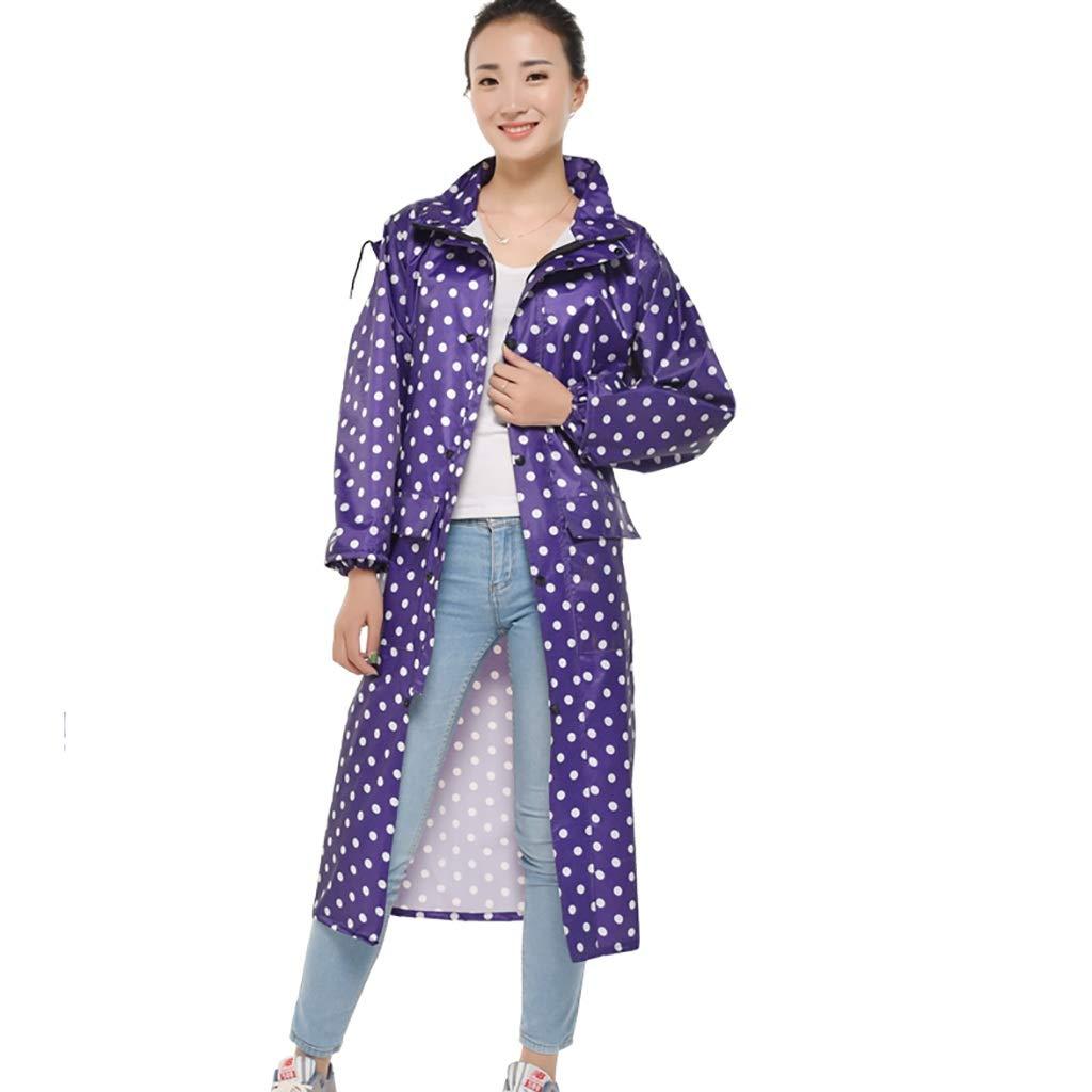 A X-grand Hyuyi Imperméable extérieur Adulte Veste de randonnée Poncho Veste Hommes et Femmes Coupe-Vent imperméable Long et épais (Couleur   A, Taille   L)