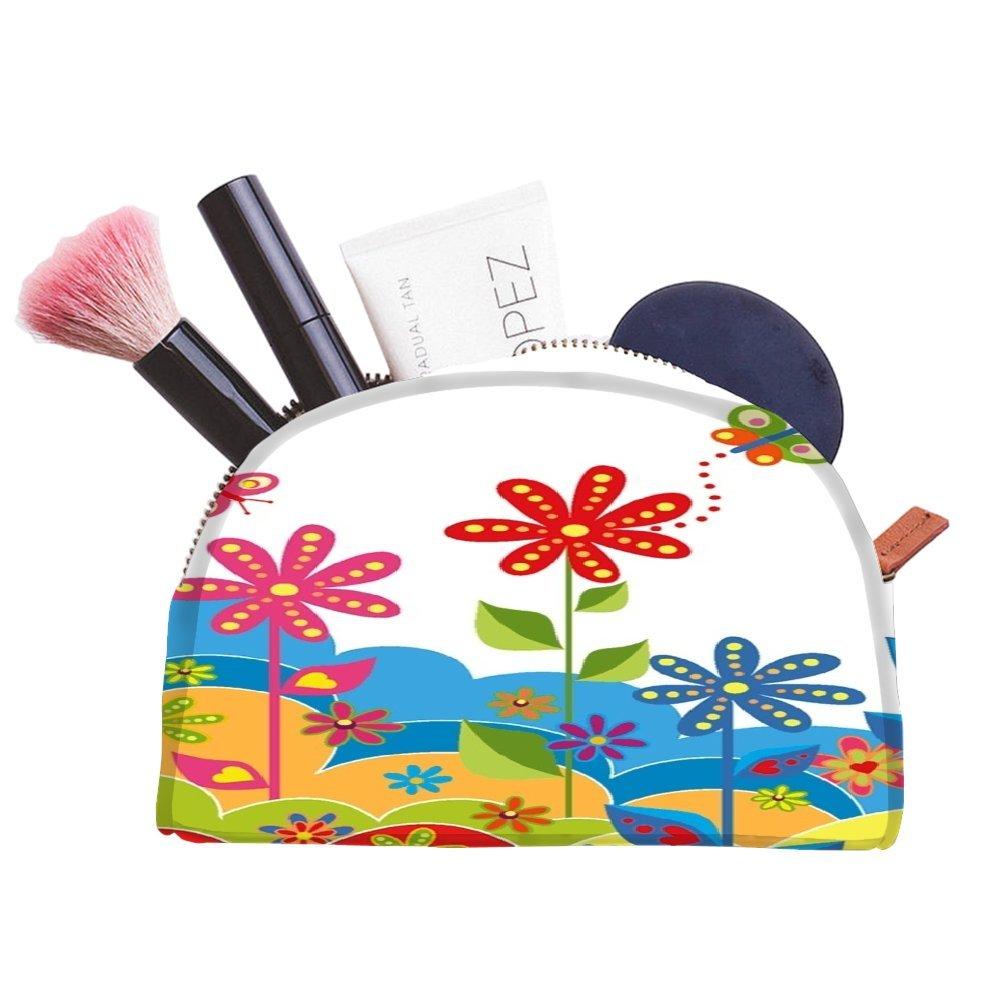 Snoogg Fleur Blanc Graphic multifonctionnel Toile Pen Sac trousse maquillage Outil Sac pochette de rangement Sac à main