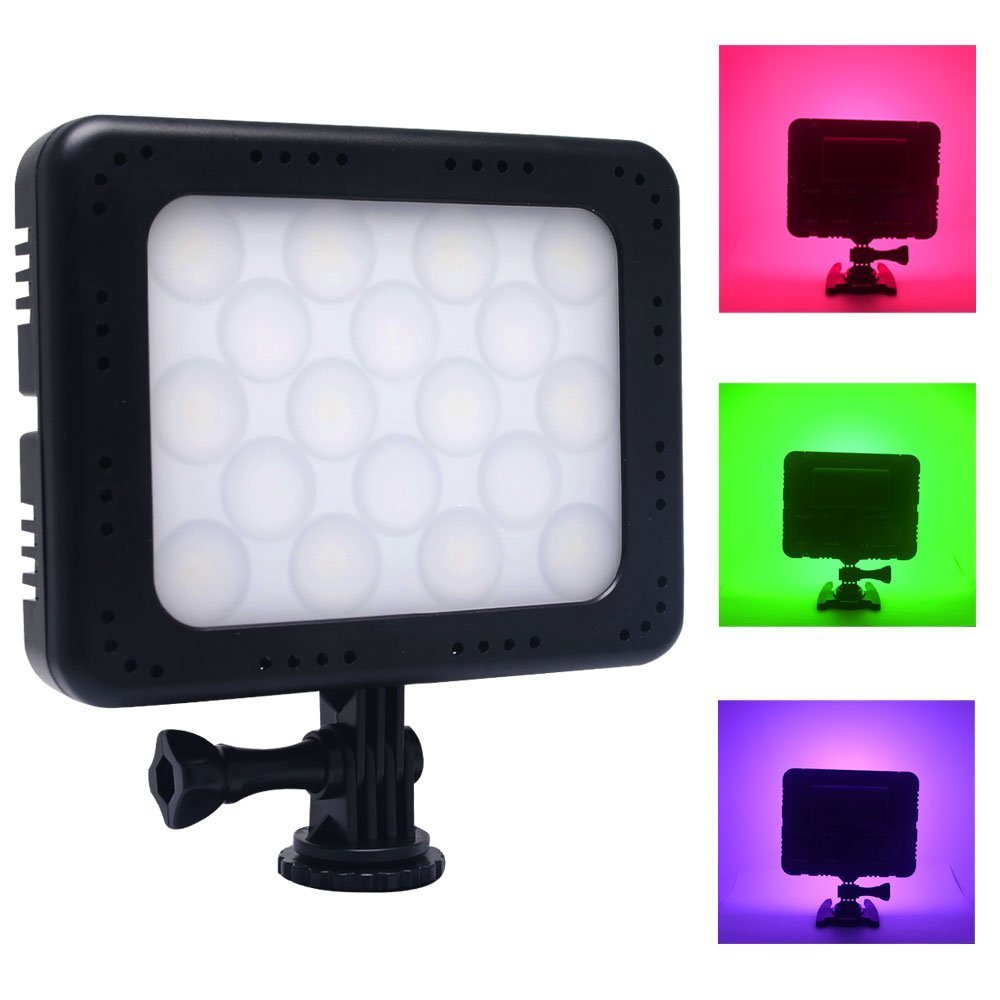 Venidice VD-18 300 Colors Dimmable Ultra High Power Video LED Light CRI 96 LCD Display RGB LED Light for Canon Nikon Sony Panasonic Olympus Pentax DSLR Camera