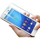Protector de pantalla de vidrio de 9 horas Pro - protector de pantalla de teléfono móvil de pantalla de vidrio templado de cristal de colour de protectores de pantalla de vidrio de cristal protector de teléfono inteligente, transparente, Sony Xperia M4 Aqua