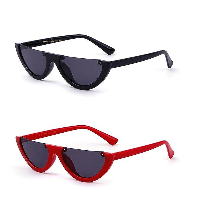 ADEWU Gafas de sol Half Frame Gafas Eyewear Vintage Mod ...