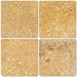 goldyellow 6x6 tumbled travertine tile