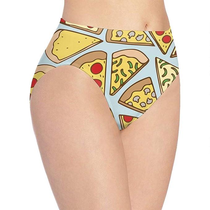 a3ef827144ed Koucas Women Basics Brief Panties, Sexy Pizza Party Women's Cotton Bikini Underwear  Briefs Panties Low