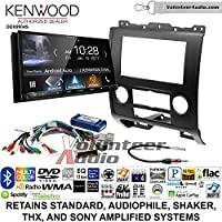 Volunteer Audio Kenwood DDX9904S Double Din Radio Install Kit with Apple CarPlay Android Auto Bluetooth Fits 2008-2012 Ford Escape, Mazda Tribute, Mercury Mariner (Black)