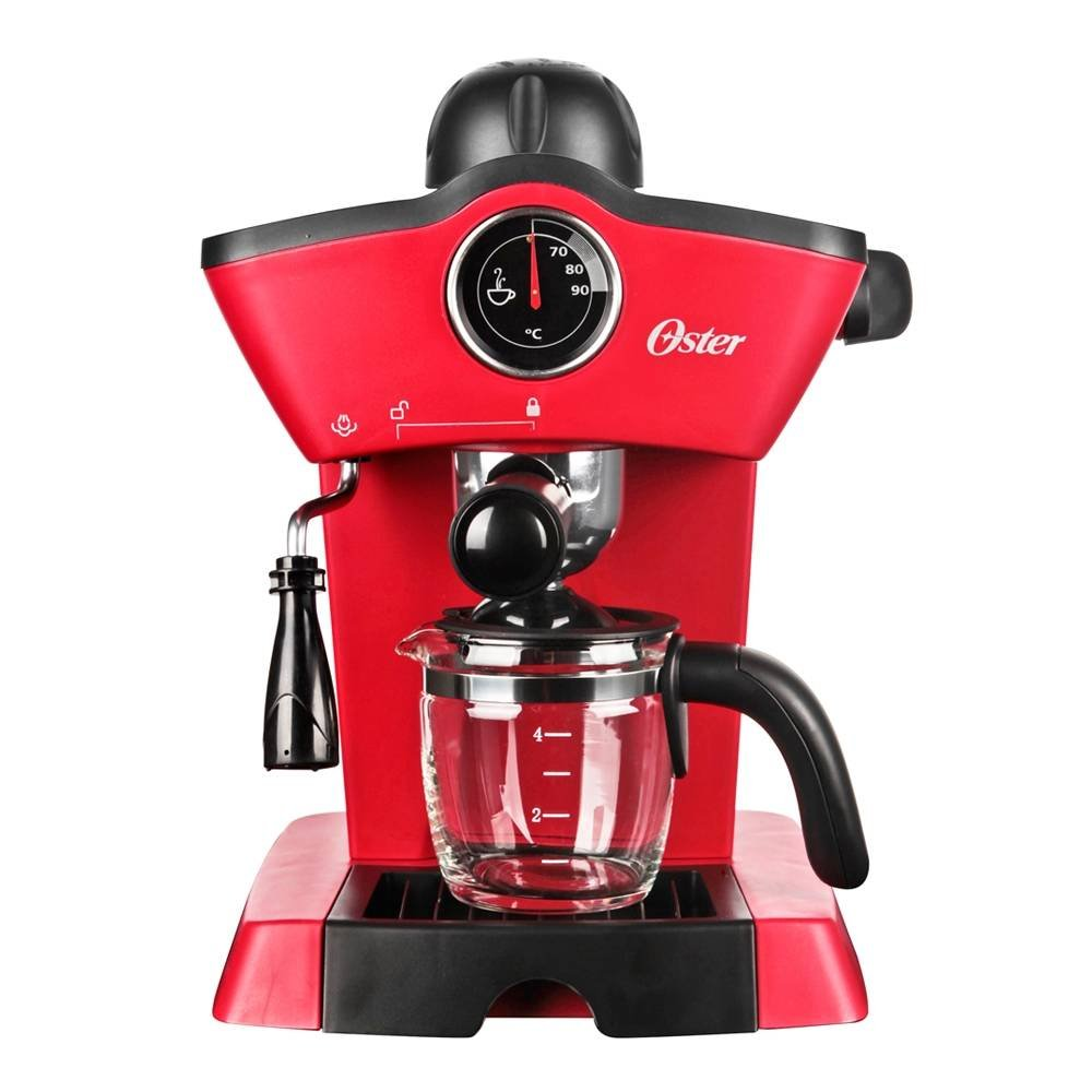 Oster BVSTEM4188 Red Steam Espresso Cappuccino Maker (Not in USA), 220V, Red by Oster