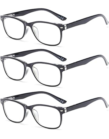 369ebd9dbd SUERTREE Anti Blue Light Computer Reading Glasses Women Men Reader Blocking  3 Pack 2.0X Black