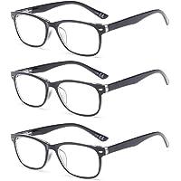 Suertree 3 Pack Anti-Blauwe Leesbrillen, Computer Brillen, Blauw Licht Filterbril, Blokkerende UV-Computerbril, Visuele…