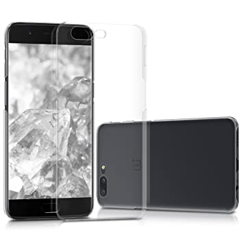 kwmobile Funda para OnePlus 5 - Carcasa de [plástico] para móvil - Protector [Trasero] en [Transparente]