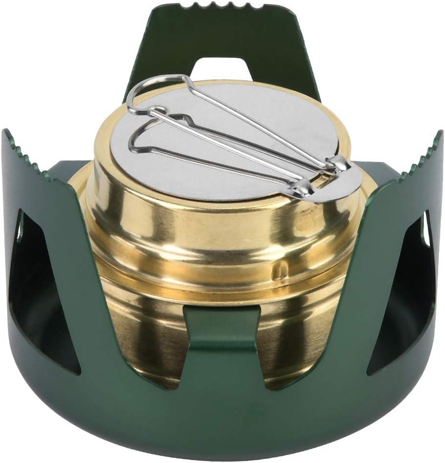 V GEBY Mini Quemador de cocción Ultraligero portátil Estufa de Combustible de Alcohol para Acampar Barbacoa