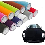 [hoho] terciopelo Suede Tela vehículo regalo Lámina de vinilo adhesivo 5colores 135cm * 30cm