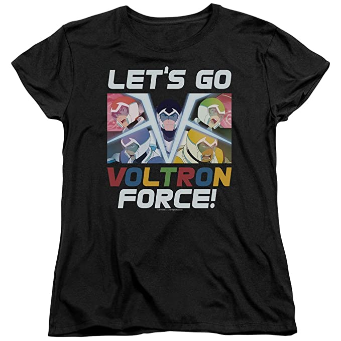 116f4f97 Image Unavailable. Image not available for. Color: Voltron: Legendary  Defender Let's Go Women's T Shirt