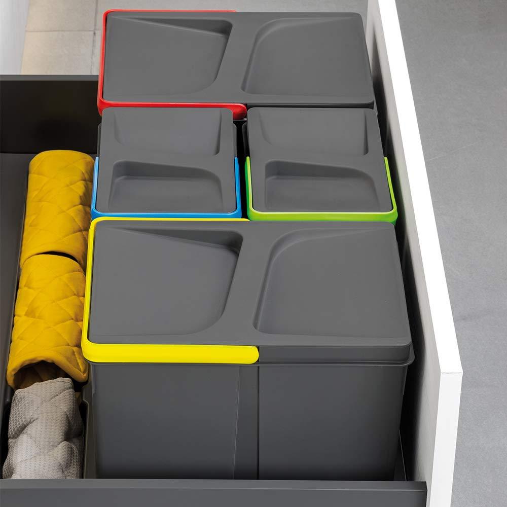 Base per armadietto da 90 cm Pattumiera per cassetti Emuca Colore: Grigio 836 x 482 mm