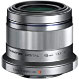 Olympus M.ZUIKO DIGITAL 45 mm 1:1.8 Lens - Silver