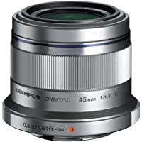 Olympus M.Zuiko Digital - Objetivo (45mm, f/1.8), Colo Plata (metálico)