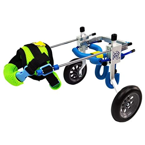 Silla de ruedas para mascotas, 1.5 kg (3.3 lb) - 50 kg (110 lb), ajuste multidireccional, ...