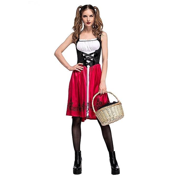 Biback Frauen Rotkäppchen Kostüm Halloween Weihnachtsfeier ...