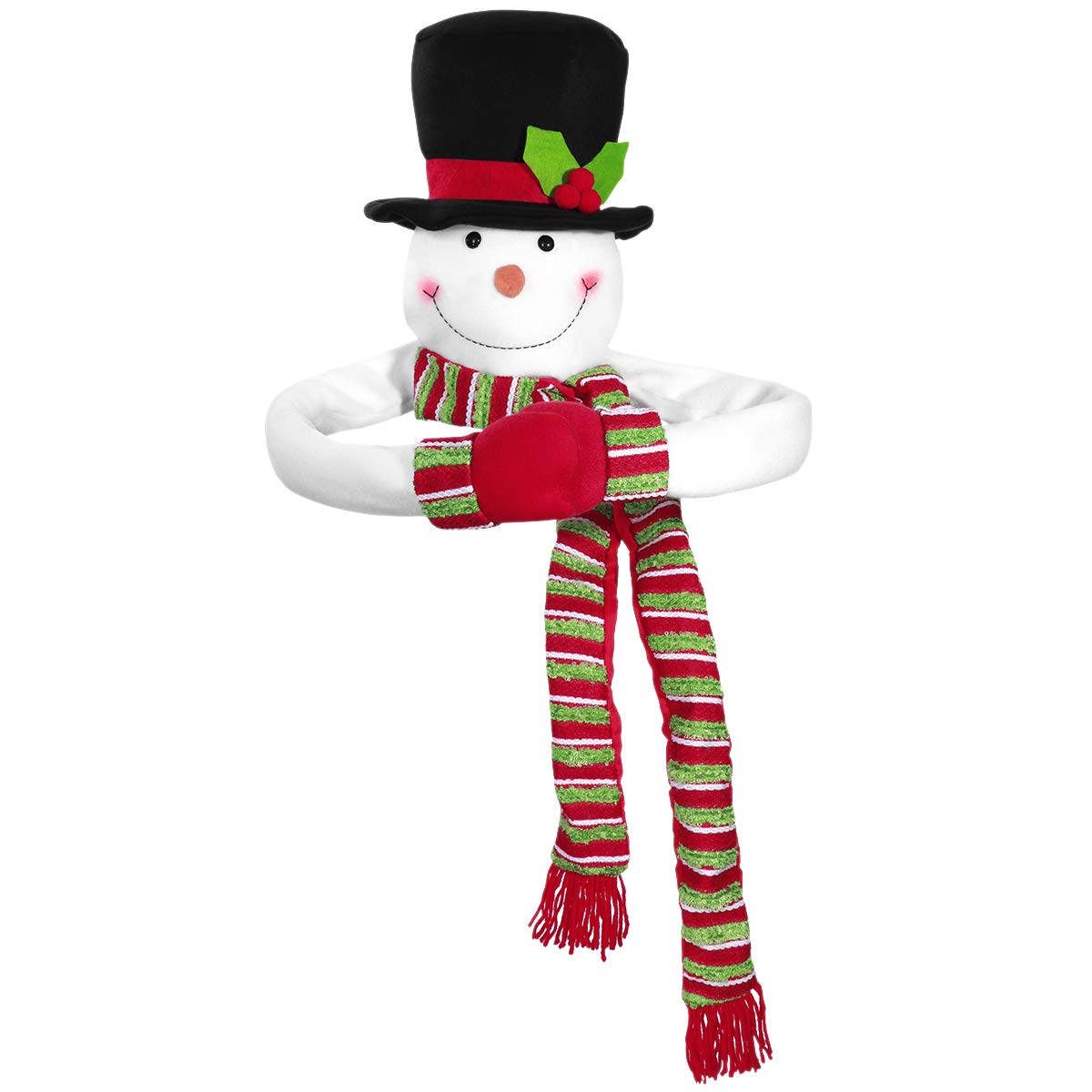 TOYMYTOY Christmas Tree Topper Snowman Top Hugger for Winter Wonderland Party Thanksgiving New Year Xmas Tree Decorations Ornament