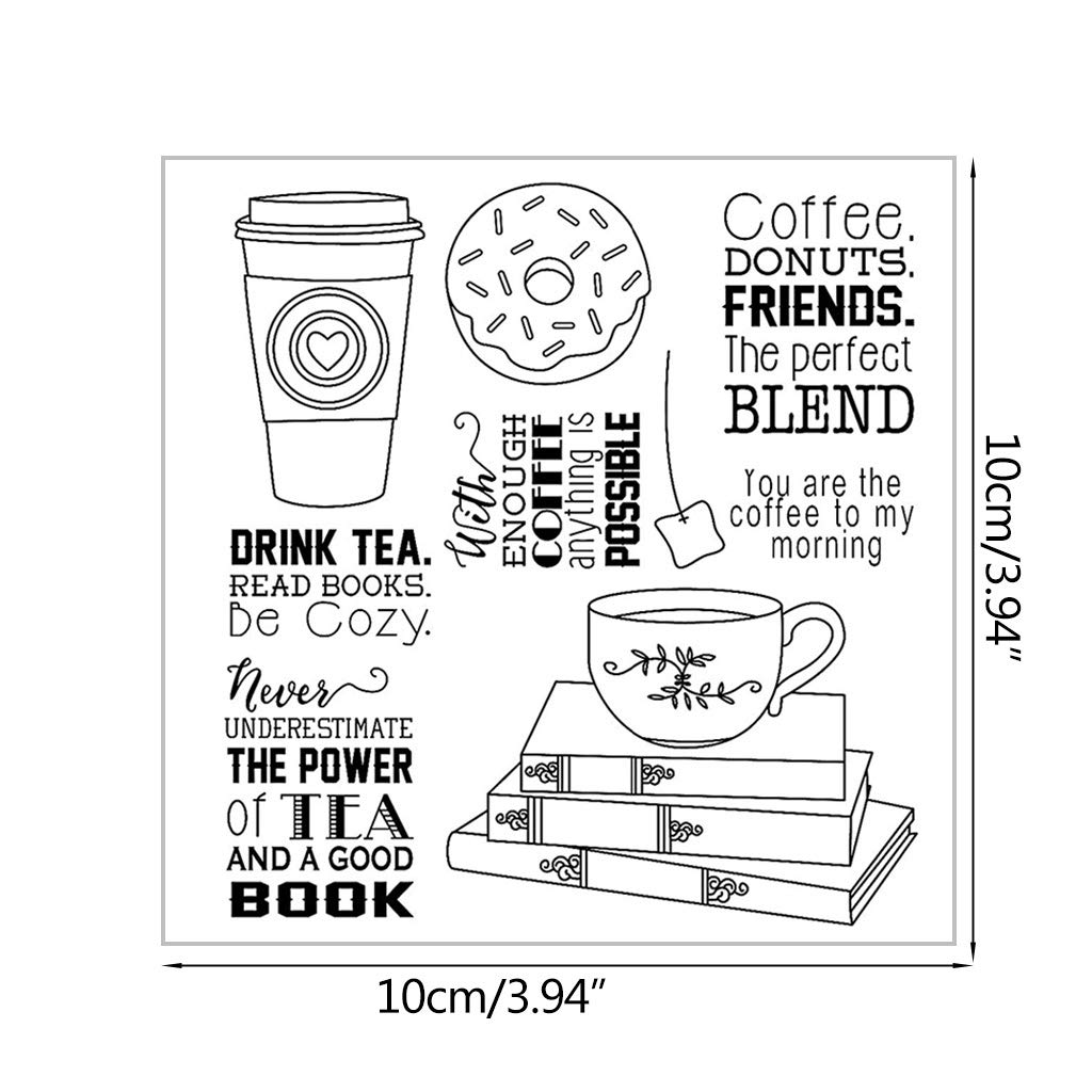 Seaskyer Drink Tea DIY Silicone Clear Stamp Cling Seal Scrapbook Embossing Album Decor by Seaskyer (Image #2)