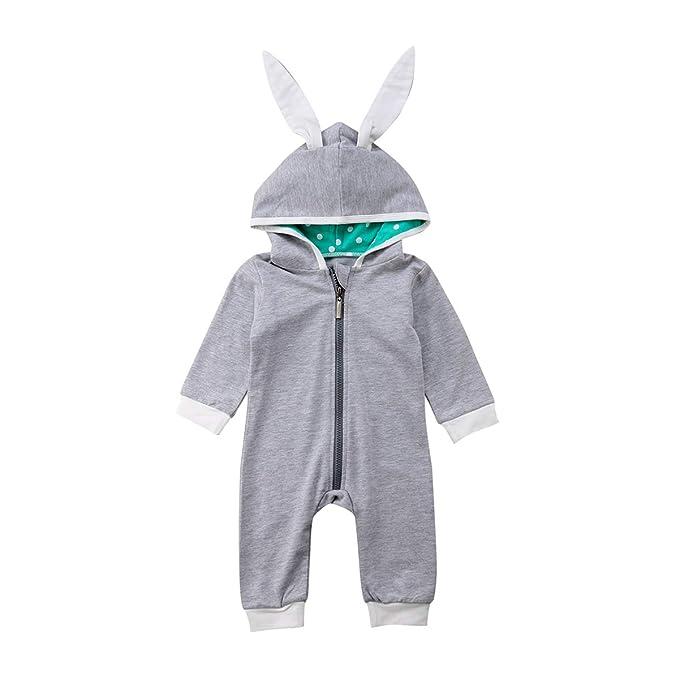 Amazon.com: Traje de conejo con capucha para bebés y niñas ...