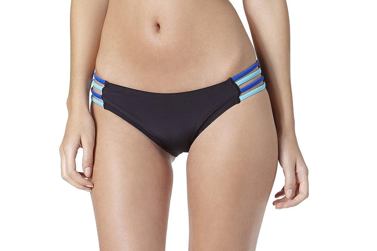 171e6d38b3f26 Amazon.com: dELiA*s Delias Juniors Valley Girl Side Strap Scoop Swim Bottom-L-Delias16-Blk  Black: Clothing