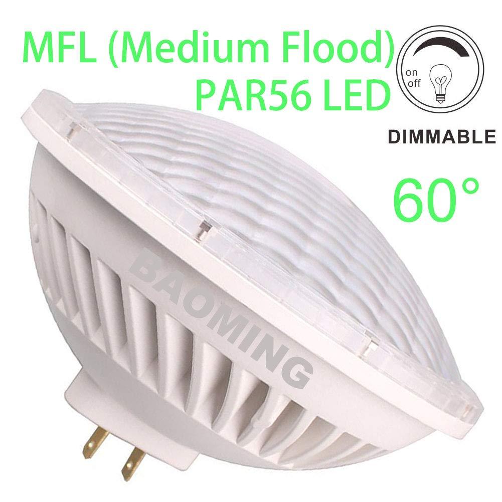 BAOMING PAR-56 LED Bulb MFL(Medium Flood) Replace Standard MFL PAR56 300 Watt Light AC/120V 28W Warm White (2700~3000K) Base Type: GX16D